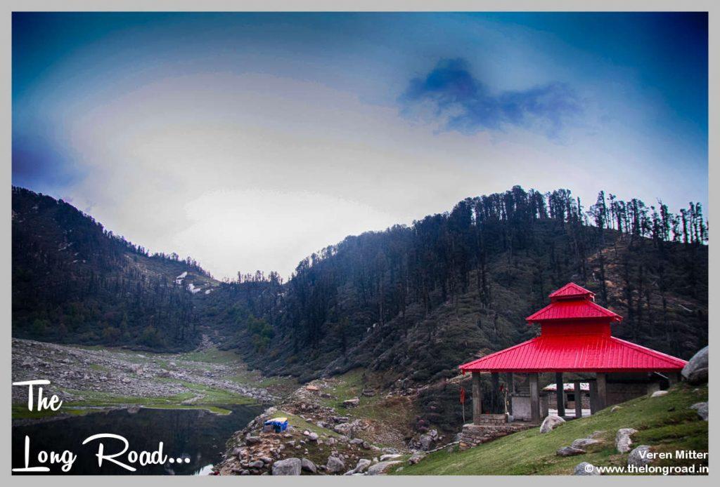 Kareri lake and temple