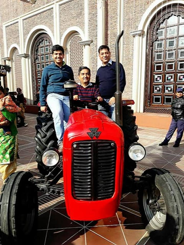 Tractor placed outside the restaurant at Haveli Amritsar