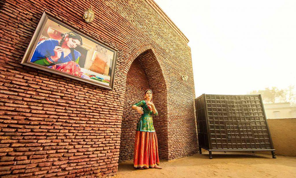 Women in village. Haveli Amritsar