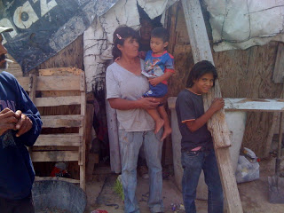 poor family in Juarez, Mexico