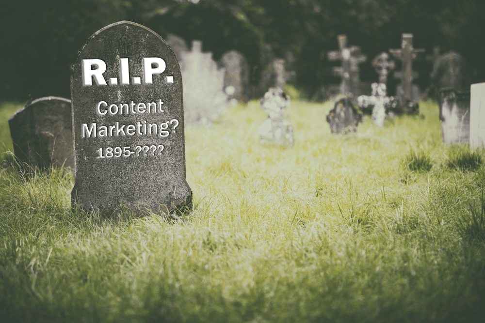 is content marketing dying