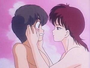 Akane di Orange Road censurata nella sua apparizione nuda