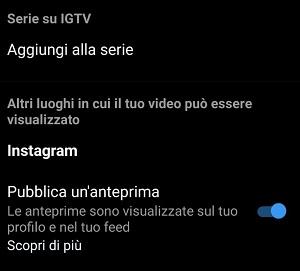 Come caricare video nella IGTV dalla app di Instagram