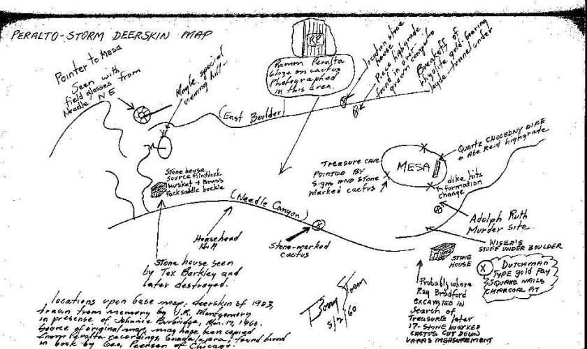 Peralto Storm Deerskin Map