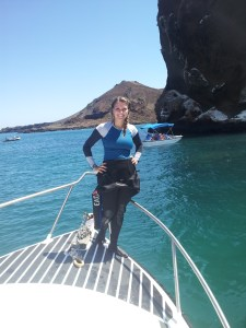 Surface Interval at Bartolome Island while working on my Divemasters in the Galapagos