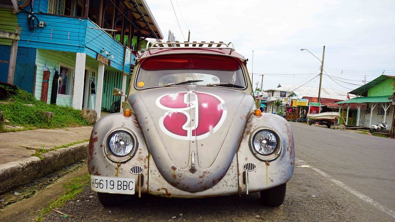 Blast from the past in Bocas Town.