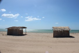 The very tiny town of Cabo de la Vela. This is a view of some of the shacks on the only street.
