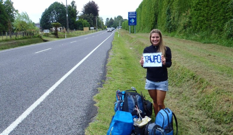 Ashlyn George Hitchhiking