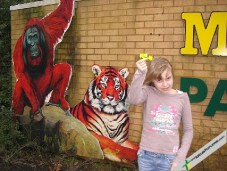 Next a trip to Paignton Zoo with daughter Katie