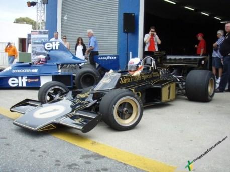 Derek Bell drives the Lotus Type 72