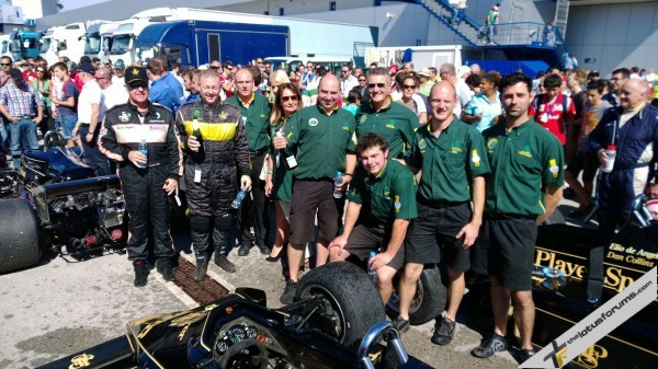 Parc fermé was a happy place for Classic Team Lotus at Jerez