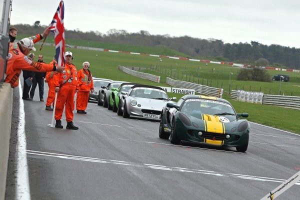 Jon LaMaster leads the Lotus Cup UK Speed Championship sprinters at Snetterton