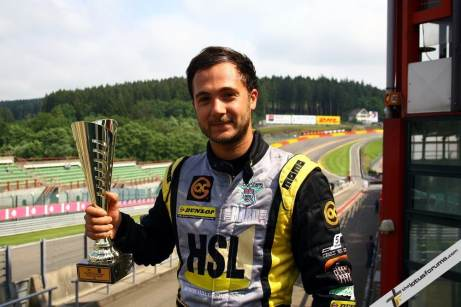 BTCC racer Jack Goff won the opening Lotus Cup Europe race (credit: Kevin Ritson)