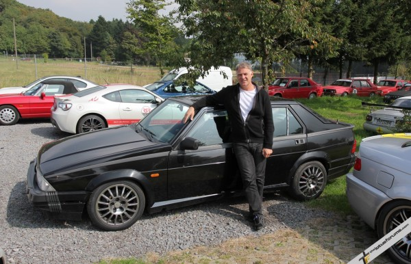Ron with one of his famous Alfa 75s. This one has done more than 300,000 km - that works out at over 14,000 laps of the Nordschleife!
