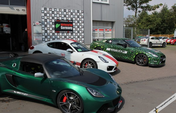 The Cayman S and a lizard skin wrapped GTR.