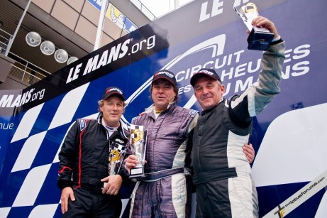 Rasse (centre) was joined on the podium both times by Nikolaj Ipsen (left) and Philippe Loup (right)