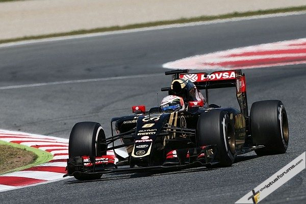 Romain Grosjean (FRA) Lotus F1 E23. Spanish Grand Prix, Sunday 10th May 2015. Barcelona, Spain.