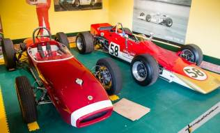 Alfa Romeo engined Type 18 (L) as driven by Syd Van Der Vyfer in 1961 & 1962 and Lotus Type 58 (R)