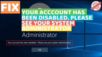 Photo of Your Account Has Been Disabled. Please See Your System Administrator