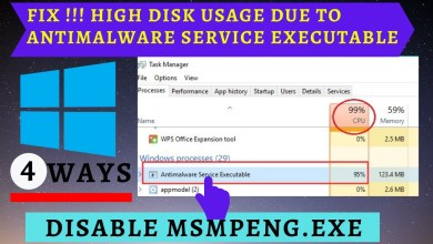 Photo of How to Fix Antimalware Service Executable (Msmpeng.exe) High Disk Usage