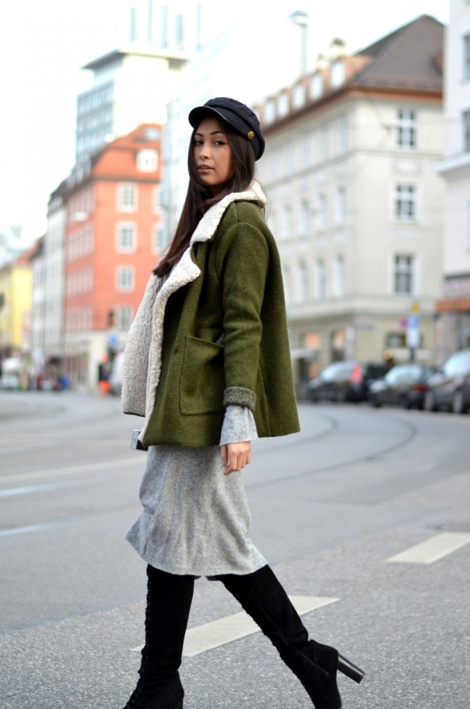 THE OLIVE SHEARLING JACKET