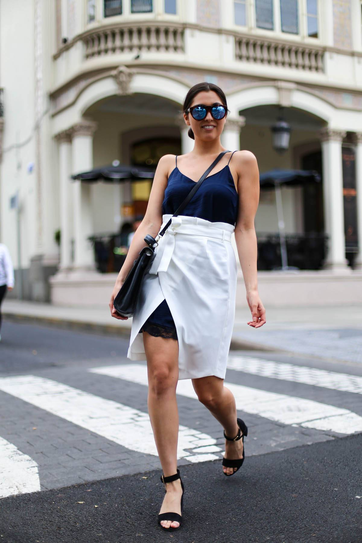 Lingerie Dress - Streetstyle - Casual - Streetstyle Las Palmas - German Fashionblog - Vintage Hermés - Summerlook - Wrap Skirt - Stradivarius - Ootd