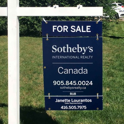 Janette Lourantos Sotheby's For Sale Sign