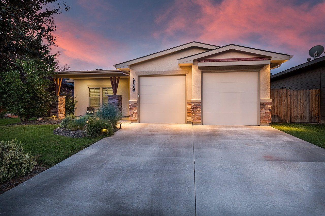 Twilight shot of a listing