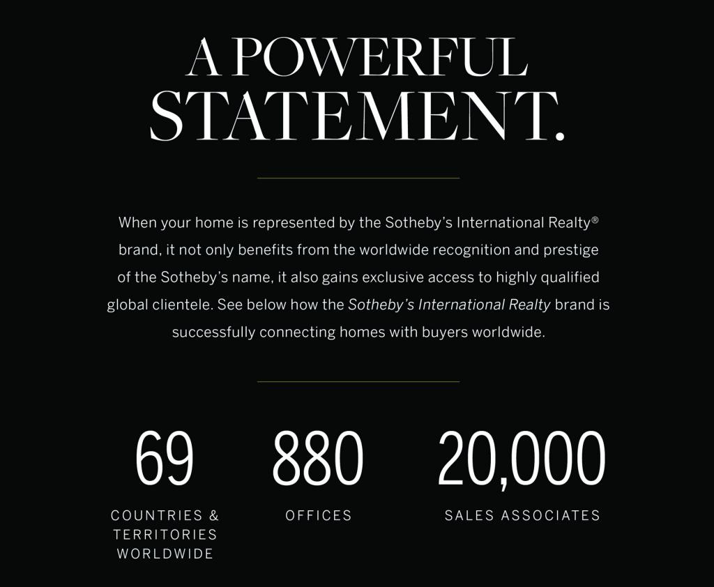 Sotheby's International Realty's international sales statistics