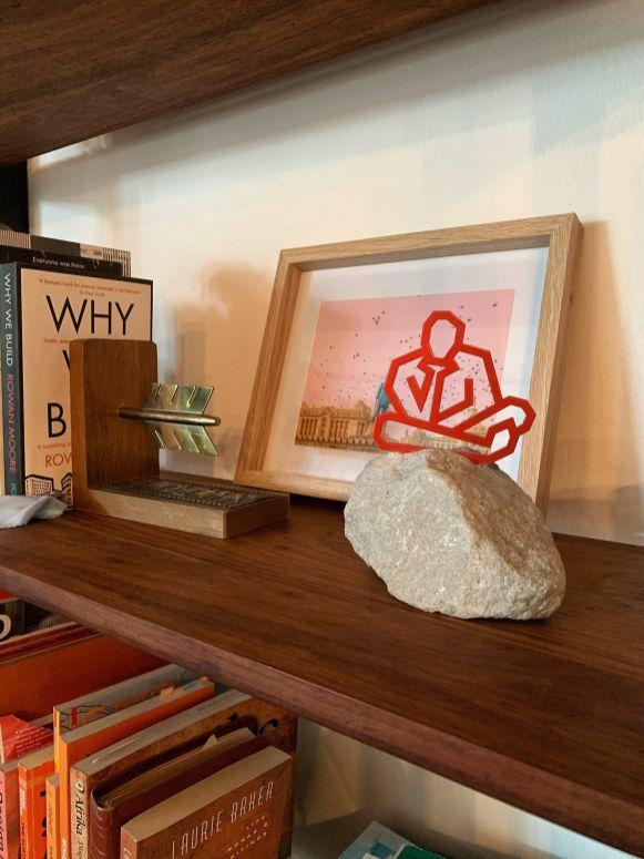 Strijdom van der Merwe art on our bookcase