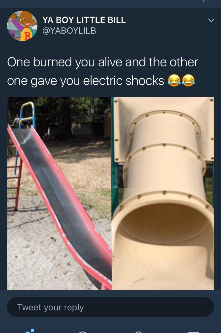 funny memes childhood slides