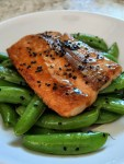 Miso Glazed Salmon with Sesame Soy Snap Peas