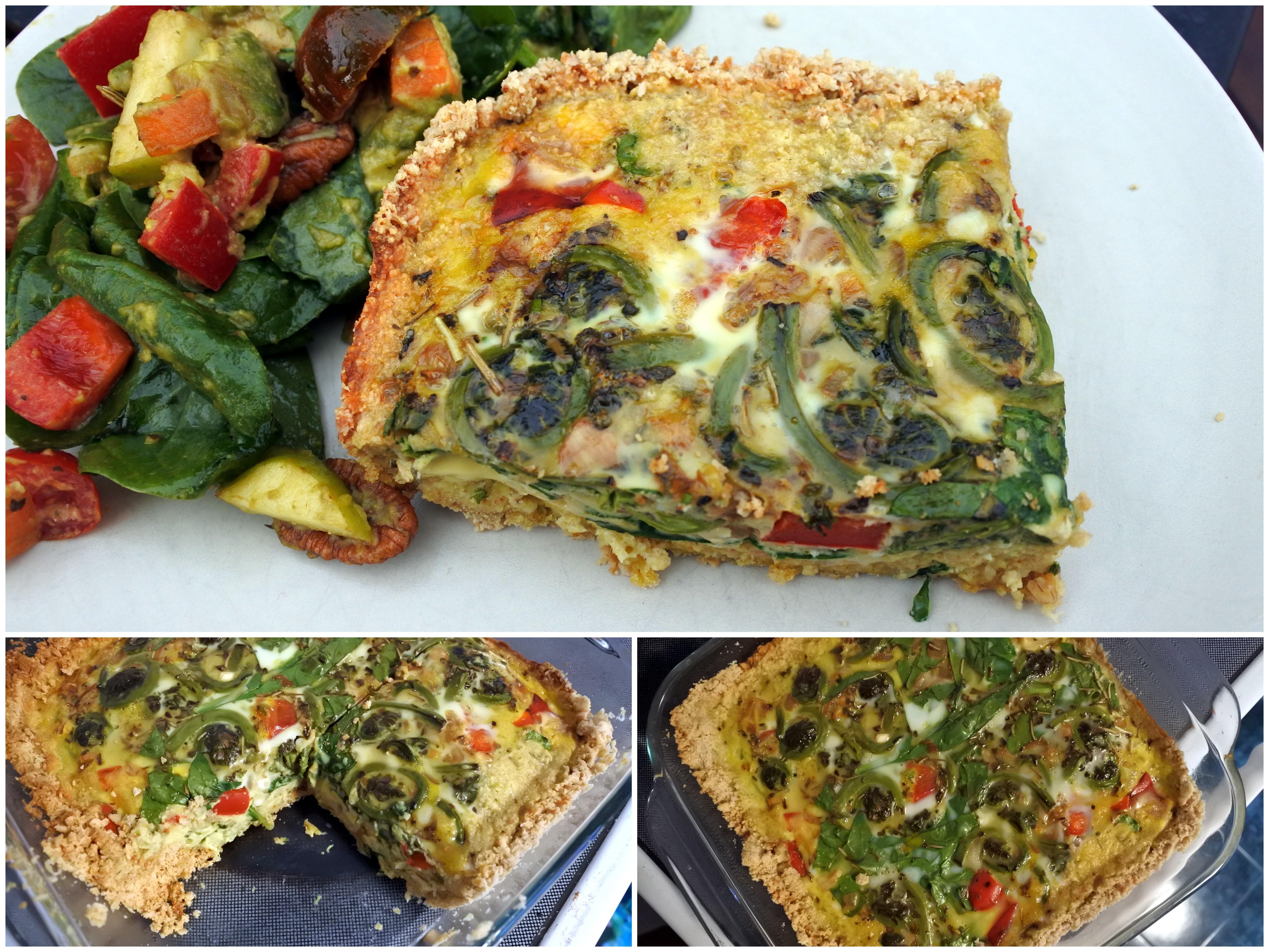 organic vegetable quiche ottawa grain-free dairy-free healthy kids food vegetarian