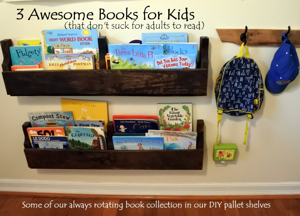kids books book shelves pallet DIY upcycled reading learning ottawa best author healthy