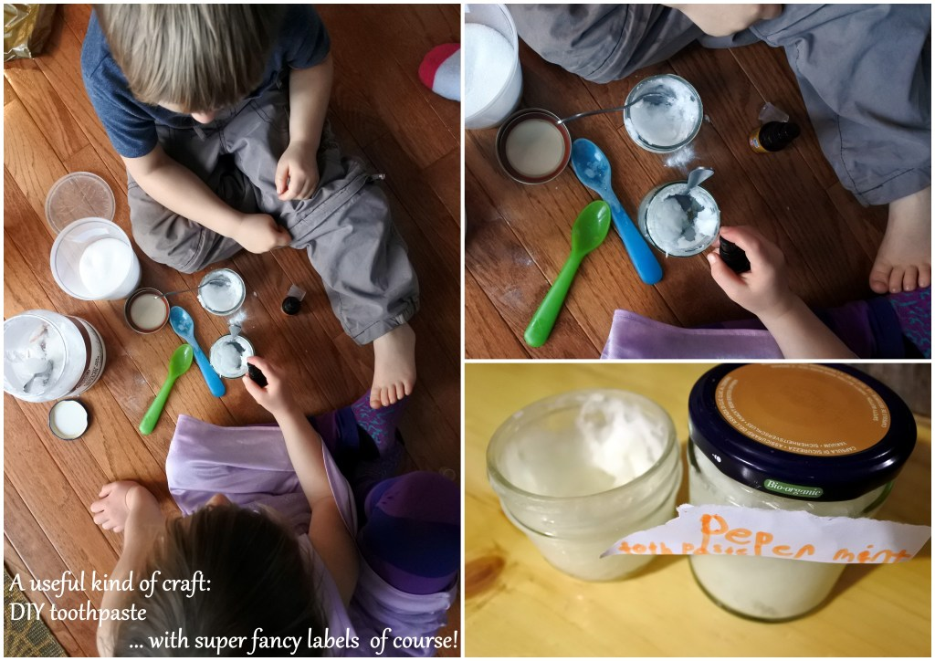 zero waste ottawa DIY toothpaste healthy kids crafts homemade sustainable coconut oil essential oil naturally jackie lane oral health