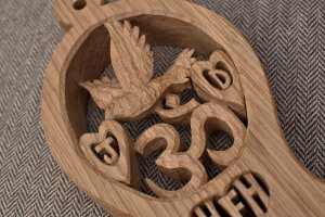 Bespoke lovespoon request close up