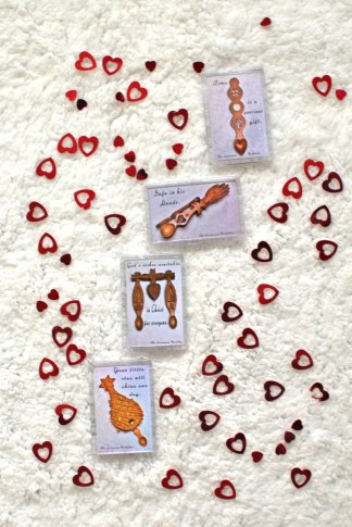 Lovespoon Fridge Magnets