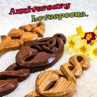 Anniversary lovespoons