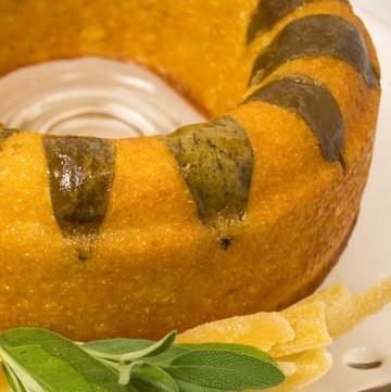 Luscious Candied Lemon Sage Tea Cake | LunaCafe