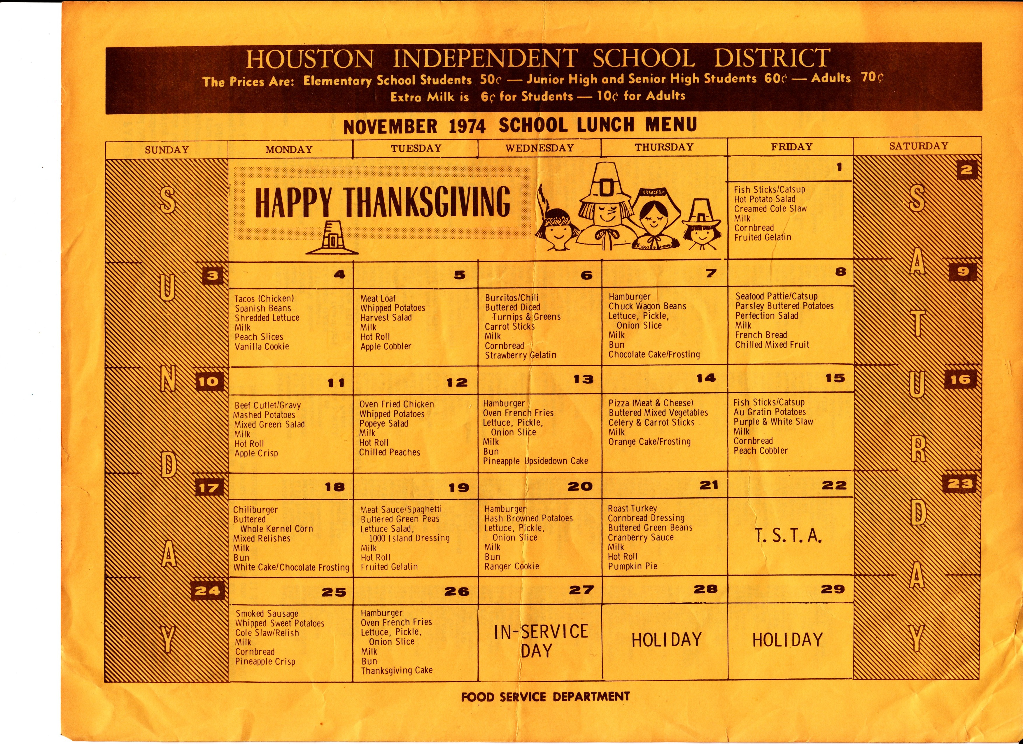 From the Time Capsule: School Lunch in 1974 - The Lunch Tray