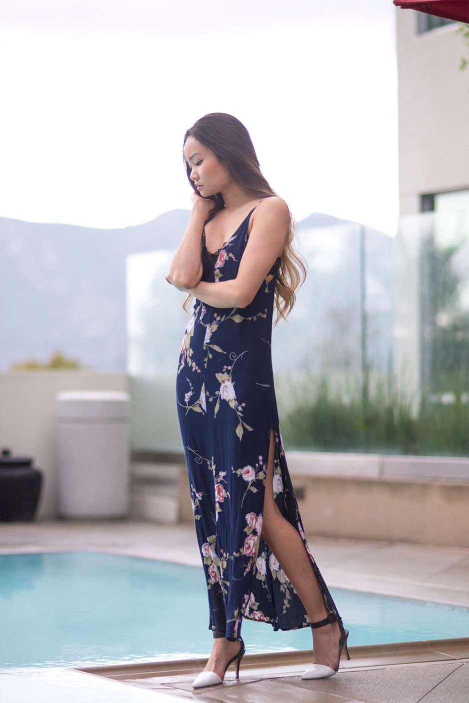 Poolside Lounging in Floral Maxis