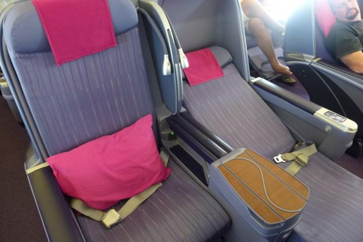 Thai Airways Business Class - Seat