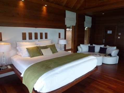 Conrad Rangali Maldives - King Water Villa Bedroom