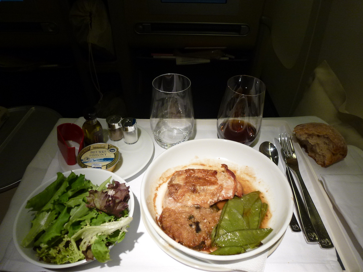 Air France Business Class - Catering