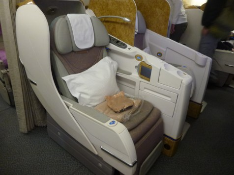 Emirates Business Class - Seat