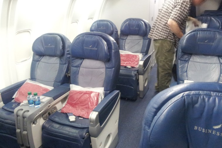 Delta Airlines Business Class - Cabin