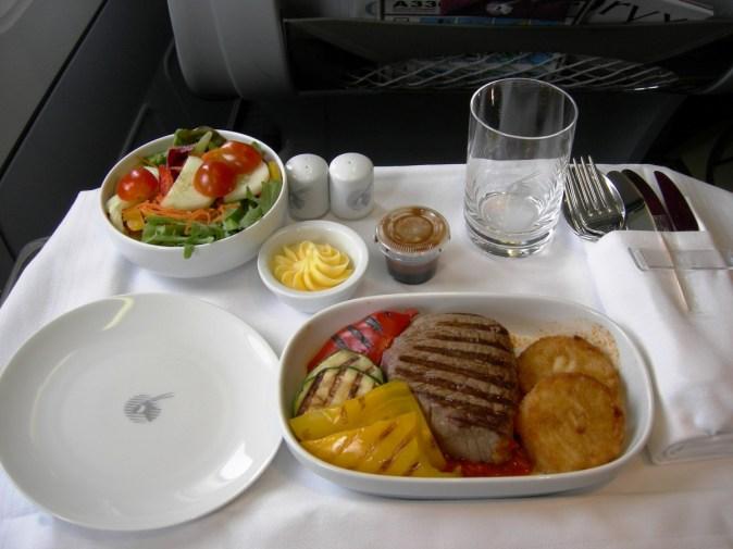 Qatar Airways Business Class - Lunch