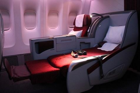 Qatar Airways Business Class - Seat Flat