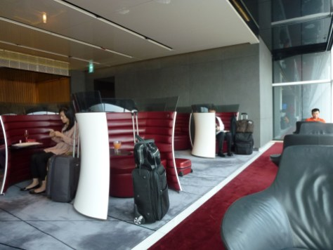 Cathay Pacific The Cabin lounge - Private seats