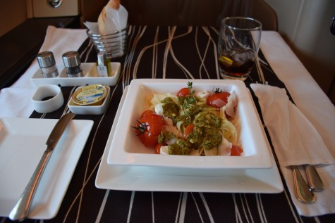 Etihad Airways Diamond First Class - DInner starter
